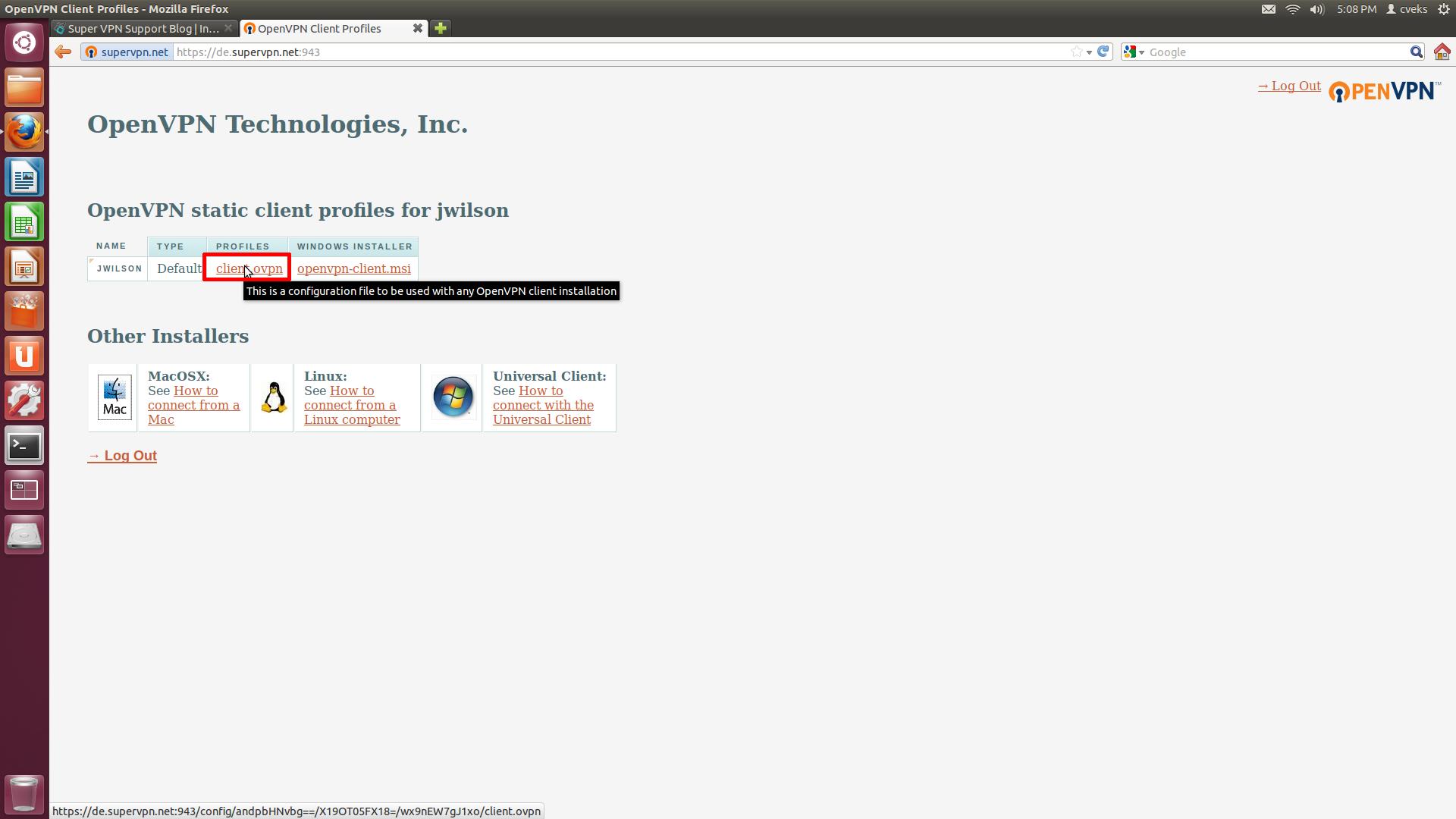 How To Setup SSL (OpenVPN) Connection On Ubuntu Linux 11 00 or 12 04